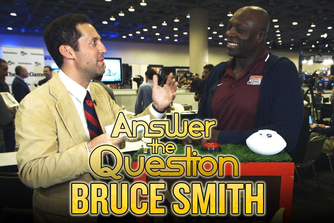 Bruce Smith goes on trivia show, tells NFL defenses the only way to stop Cam Newton from dancing
