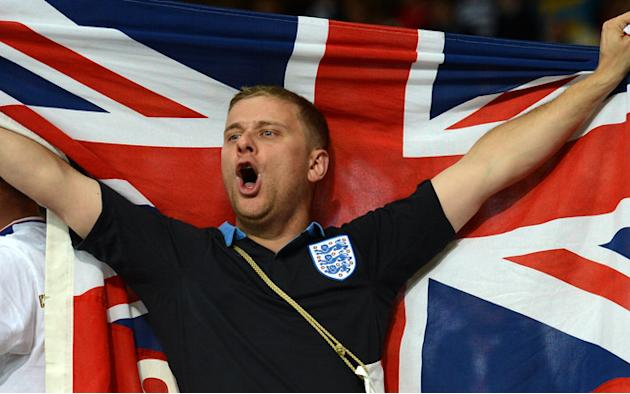 An English Supporter Celebrates AFP/Getty Images