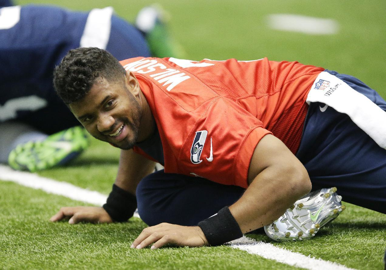 Wilson says little about contract negotiations with Seahawks