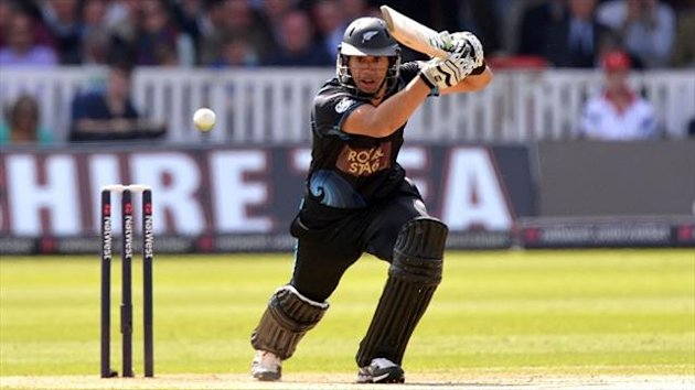 Ross Taylor was one of three New Zealand players to score a half-century
