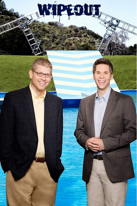 "John Henson and John Anderson host ""Wipeout"""