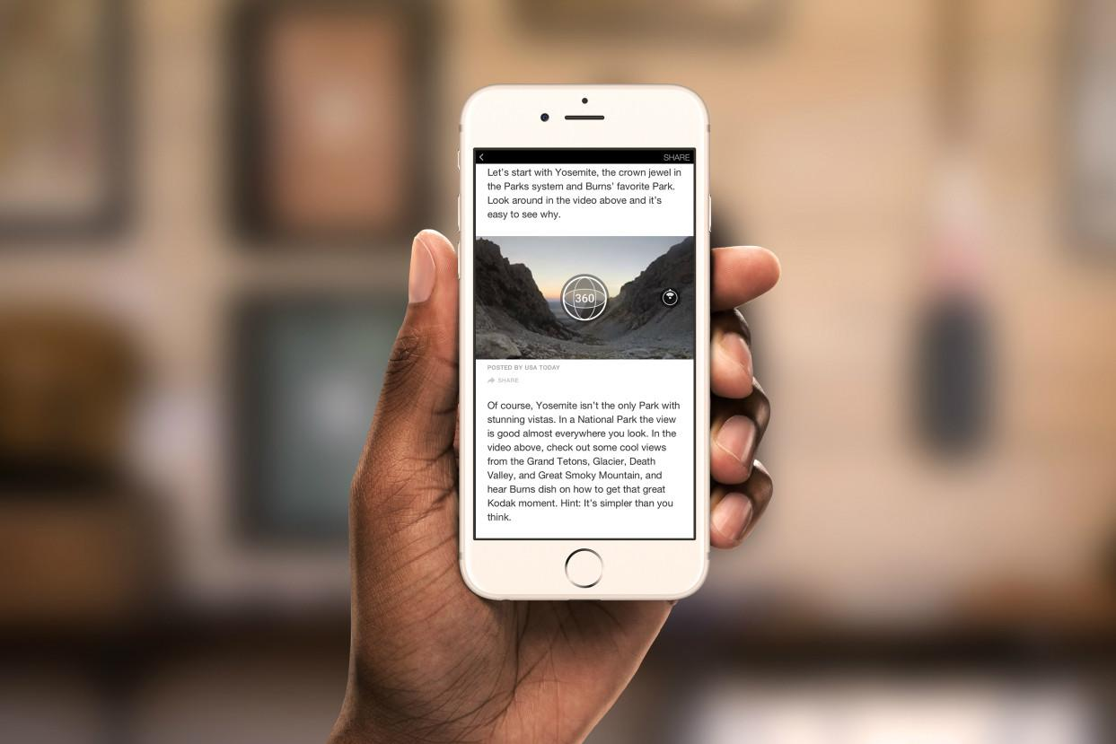 Facebook adds 360 video and photo support to Instant Articles