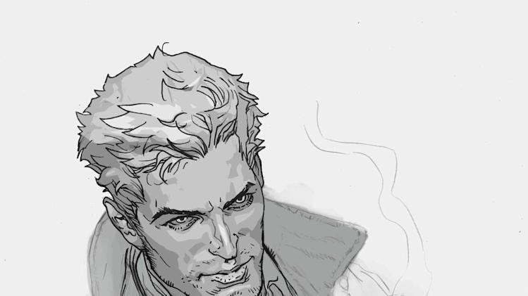 "This image provided by DC Entertainment shows chain-smoking British occult detective John Constantine. Constantine, long a staple of Vertigo's ""Hellblazer,"" is getting what promises to be a duly deserved send off as the title ends at No. 300 in February. (AP Photo/DC Entertainment)"