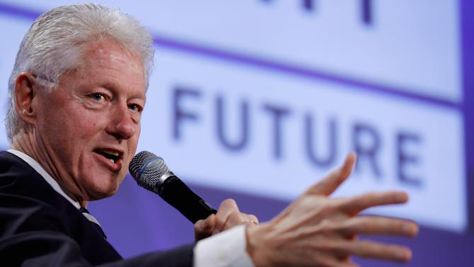 Former President Bill Clinton Is Interviewed During Peterson Foundation Fiscal Summit