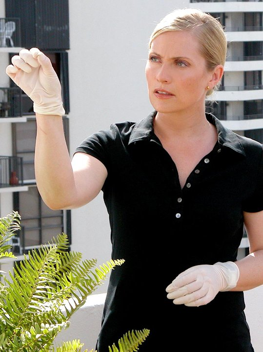 Emily Procter stars on the CBS Television Network's CSI: Miami