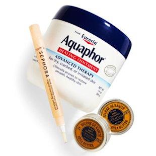 Aquaphor, Sephora, and L'Occitane products