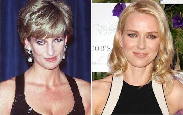 La princesa Diana y Naomi Watts