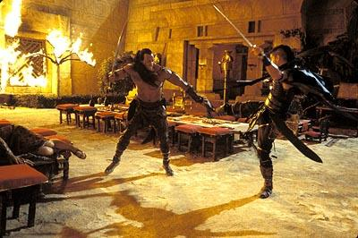 The Rock and Steven Brand in Universal's The Scorpion King