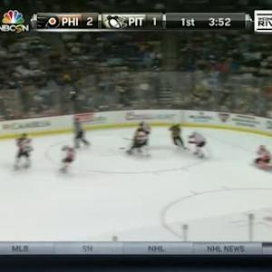 Ray Emery Save on Olli Maatta (16:10/1st)