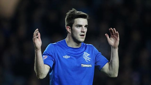 Andrew Little scored the opening goal of the game for Rangers