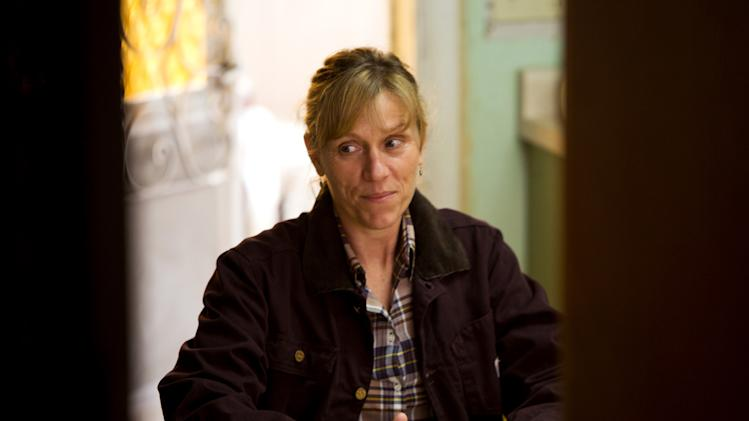 "This undated publicity film image provided by Focus Features shows Frances McDormand starring as Sue Thomason in Gus Van Sant's contemporary drama, ""Promised Land,"" a Focus Features release. (AP Photo/Focus Features, Scott Green)"