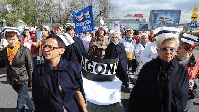 Poland's health care marches for job security
