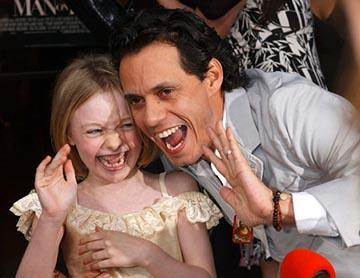 Dakota Fanning and Marc Anthony at the LA premiere of 20th Century Fox's Man on Fire