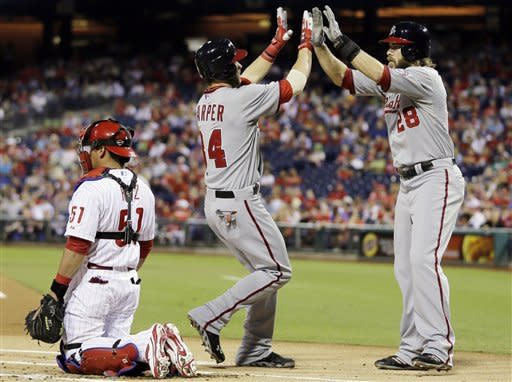 Harper hits 20th home run, Nats beat Phillies