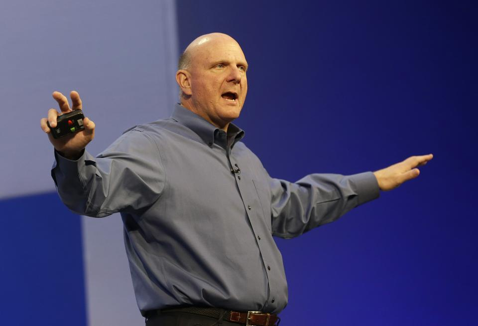 Microsoft says CEO Ballmer to retire in 12 months