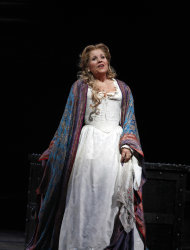 "In this Friday, Oct. 5 2012 photo, Renee Fleming performs as Desdemona during the final dress rehearsal of Guiseppe Verdi's ""Otello"" at the Metropolitan Opera in New York. (AP Photo/Mary Altaffer)"