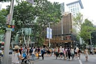 File photo of the Orchard road shopping area in Singapore. A Singaporean artist under investigation for allegedly vandalising public roads saw more than 11,000 Internet users Wednesday petitioning online for police leniency