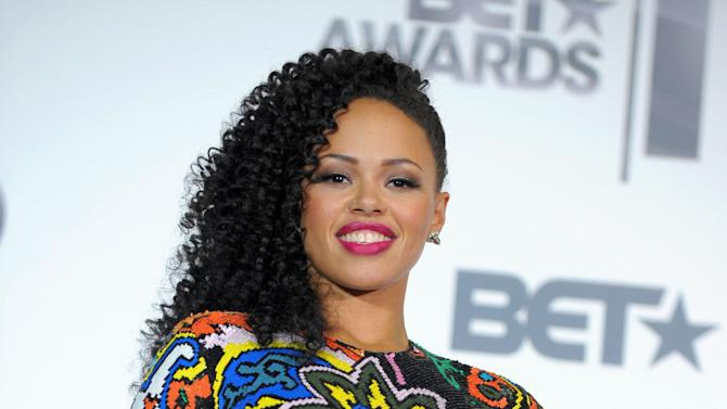 "FILE - This July 1, 2012 file photo shows R&B singer Elle Varner posing at the BET Awards in Los Angeles. Varner's debut album ""Perfectly Imperfect,"" which debuted at No. 2 on Billboard's R&B/Hip Hop albums chart last month and currently sits at No. 11, proves it can appeal to generations of fans. She's also been recognized for her work with a Soul Train Awards Best New Artist nomination, which she called a shock after discovering it through congratulations on Twitter. (Photo by Jordan Strauss/Invision/AP, file)"