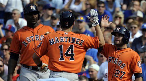 Cedeno, Martinez lead Astros past Cubs 4-3