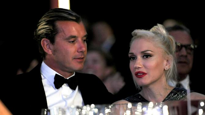 Musicians Gavin Rossdale, left, and Gwen Stefani attend the Wallis Annenberg Center for the Performing Arts Inaugural Gala on Thursday, Oct. 17, 2013, in Beverly Hills, Calif. (Photo by Chris Pizzello/Invision/AP)