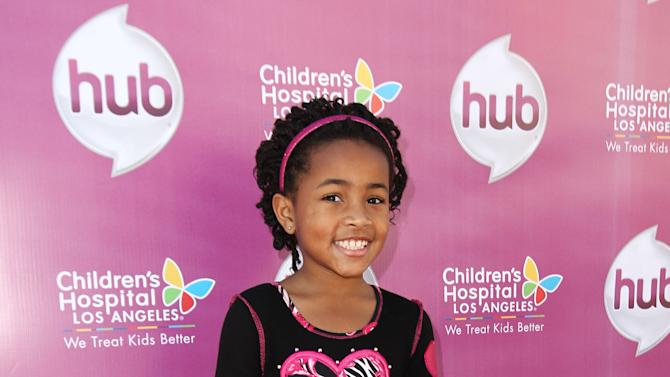 """Layla Crawford  attends The Hub TV Network's """"My Little Pony Friendship is Magic"""" Coronation Concert at the Brentwood Theatre on Saturday, Feb. 9, 2013, in Los Angeles in support of Children's Hospital LA. (Photo by Matt Sayles/Invision for The Hub/AP Images)"""