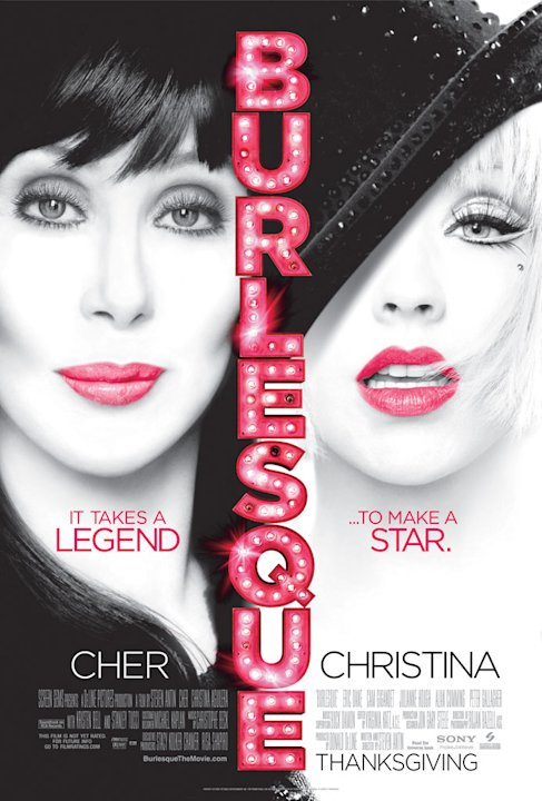 Burlesque Screen Gems 2010 Christina Aguilera Cher Poster