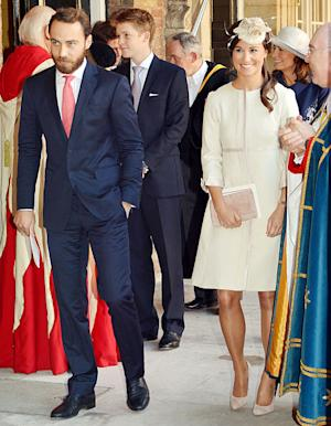 Pippa Middleton's Royal Christening Outfit: Details on Pink Dress, Cream Coat
