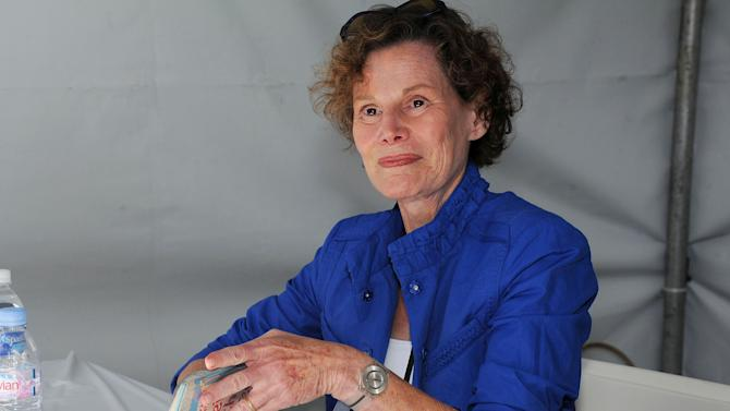 """FILE - This April 21, 2012 file photo shows author Judy Blume attending the LA Times Festival of Books at the USC Campus in Los Angeles. Blume says she was diagnosed with breast cancer over the summer but is """"feeling stronger every day"""" after surgery. The 74-year-old Blume wrote on her blog Wednesday, Aug. 5, that she learned in June that she had cancer and underwent a mastectomy and reconstruction in late July. She writes that she now walks a couple of miles each morning and dines out at night. Blume hopes to begin writing again soon.(AP Photo/Katy Winn, file)"""