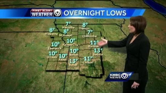 Temperatures dip slightly for your Thursday