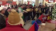 A large group performed a Round Dance at the Cornwall Centre in Regina to raise awareness of their Idle No More campaign on Dec. 17.