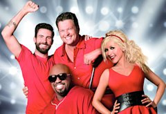 Adam Levine, CeeLo Green, Blake Shelton, Christina Aguilera | Photo Credits: NBC
