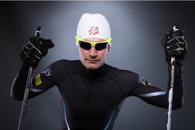 Olympic Nordic Combined racer Bryan Fletcher poses for a portrait during the 2013 U.S. Olympic Team Media Summit in Park City, Utah