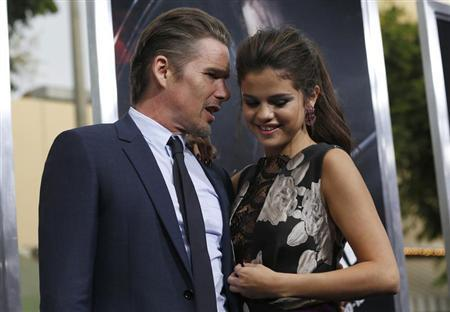 "Cast members Ethan Hawke and Selena Gomez attend the premiere of the film ""Getaway"" in Los Angeles"