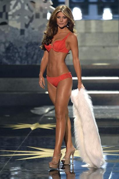 Miss Venezuela Gabriela Isler competes during the 2013 Miss Universe competition in Moscow on November 9, 2013