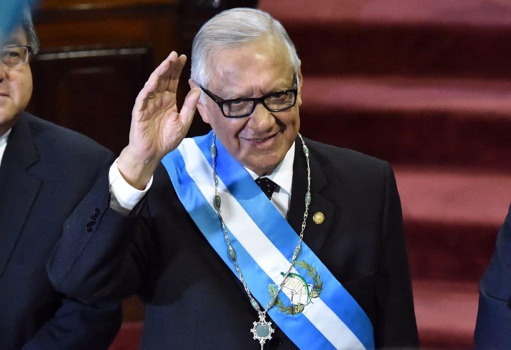 Guatemala swears in new president amid corruption storm