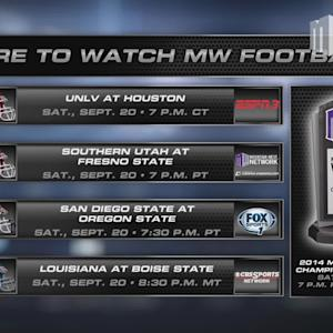 Where To Watch MW Football - Week 4