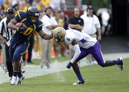 No. 9 West Virginia rolls past James Madison 42-12