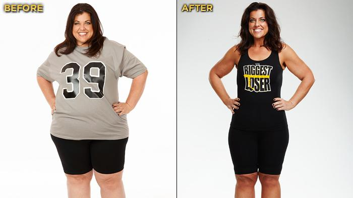 "The Season 12 at-home winner of ""Biggest Loser"" and winner of the $100,000 prize is 39-year-old Jennifer Rumple. She started the competition at 330 lbs. and lost a total of 145 lbs."