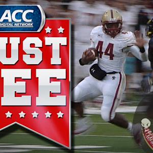 BC's Andre Williams Takes Down Defender With Stiff Arm | ACC Must See Moment