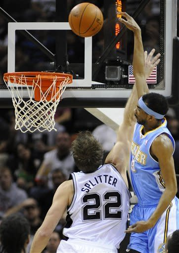 Lawson leads short-handed Nuggets over Spurs