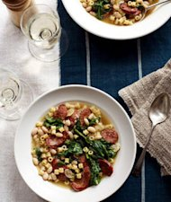 Quick Sausage, White Bean and Spinach Stew Recipe
