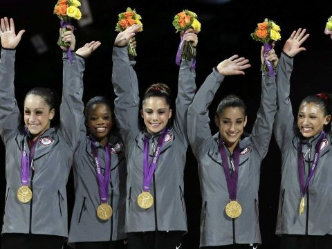 olympics, gymnasts, medal
