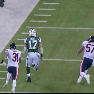 New York Jets wide receiver Greg Salas 51-yard reception