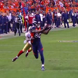 Denver Broncos wide receiver Demaryius Thomas 40-yard TD reception