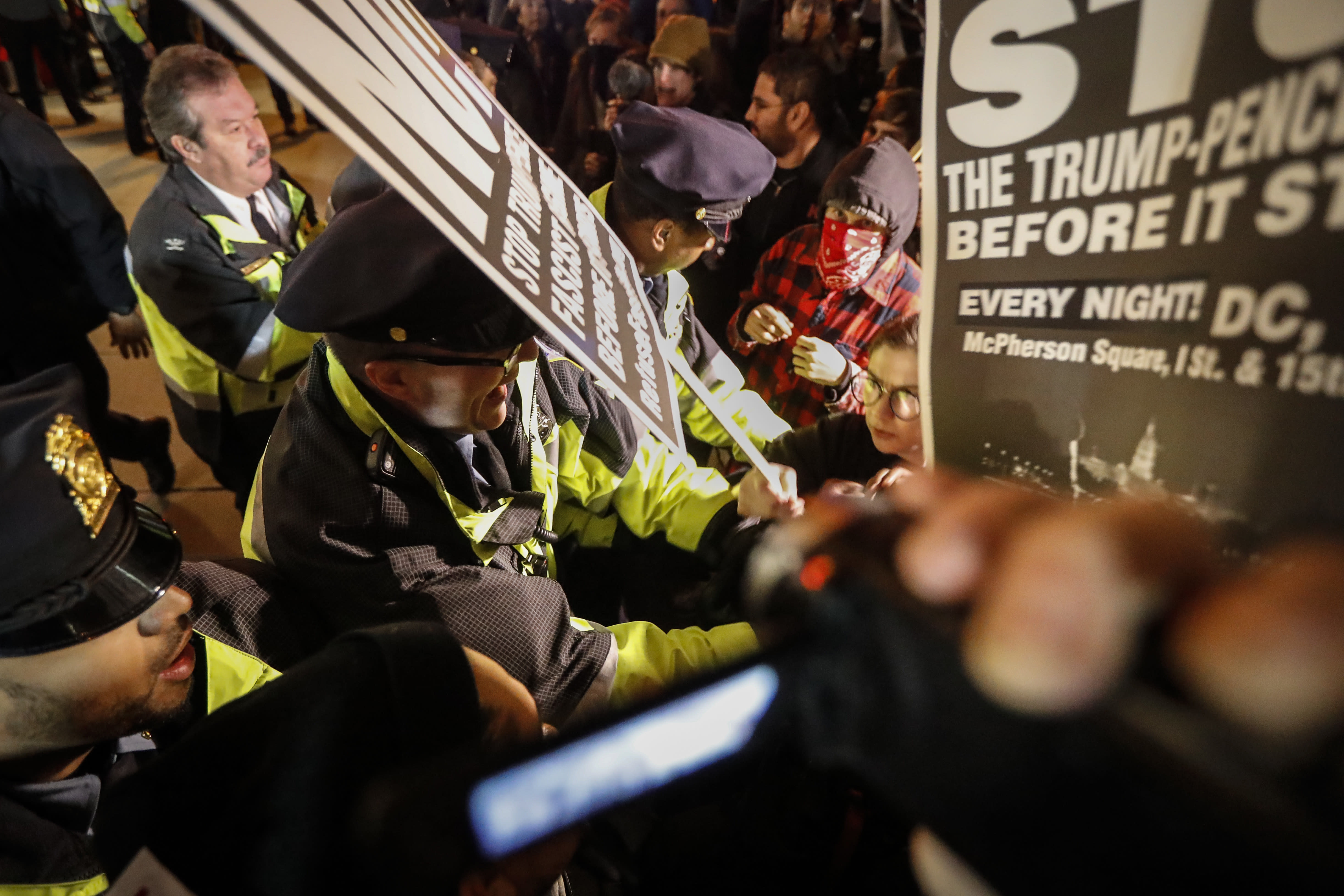 Protesters, Trump Supporters Clash at Deploraball