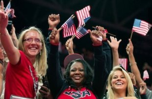 Missy Parton and Natalie Hawkins celebrate Gabby Douglas gold medal &#x002014; Good Morning News