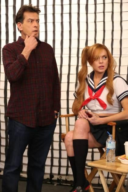 Charlie Sheen and Lindsay Lohan on 'Anger Management' -- FX