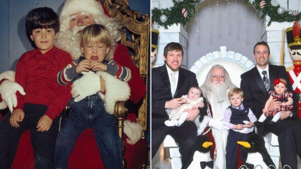 Brothers Smile With Santa for 34 Years Straight