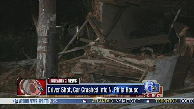 Shooting victim buried in rubble after partial collapse in North Philadelphia