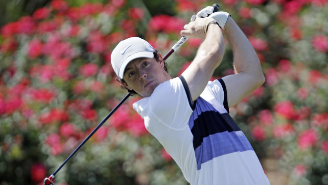 Rory McIlroy, of Northern Ireland, hits from the 18th tee during the first round of The Players championship golf tournament at TPC Sawgrass, Thursday, May 9, 2013 in Ponte Vedra Beach, Fla. (AP Photo/Gerald Herbert)